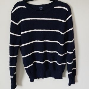 J crew size large navy and cream  sweater